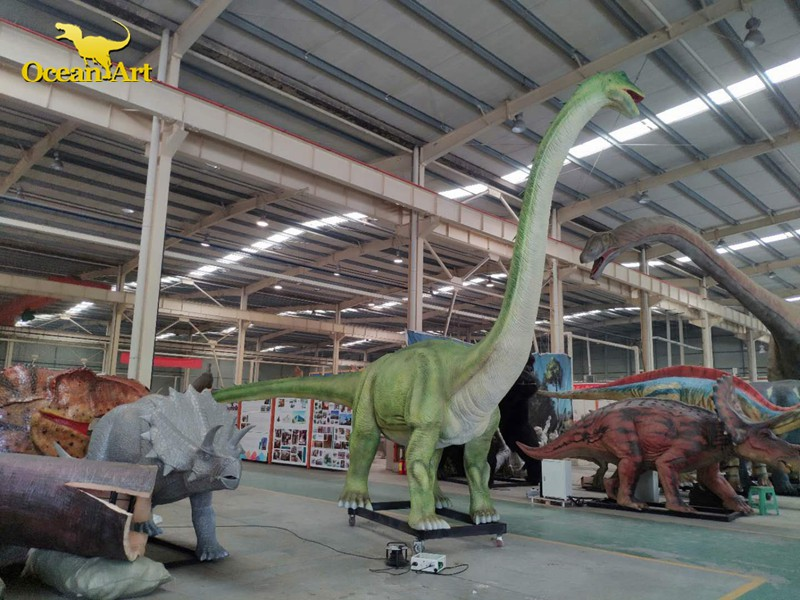 animatronic dinosaur testing